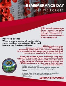 Remembrance Day suggested ideas 2020