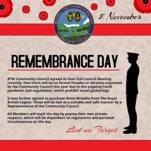 Remembrance Day Info 2020