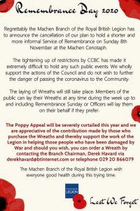 Rememberance Day Info Machen 2020